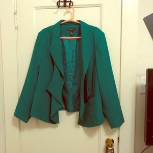INC Ruffled Blazer